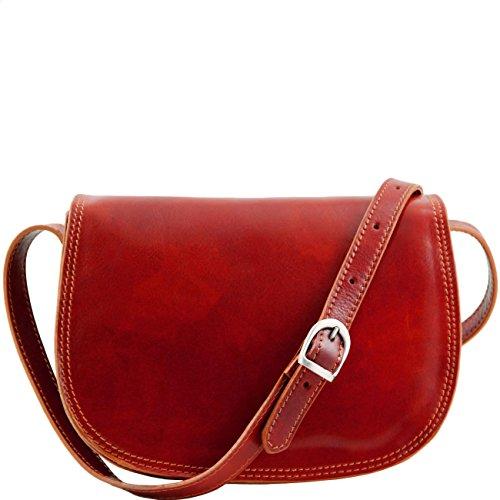 Tuscany Leather Isabella - Borsa in pelle da donna Miele Borse donna a tracolla Rosso
