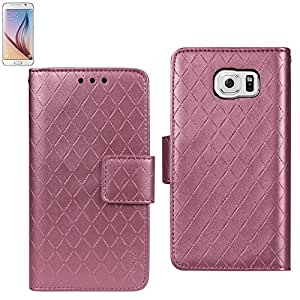 Reiko Wallet Case 3 In 1 For Samsung Galaxy S6 Rhombus Pattern