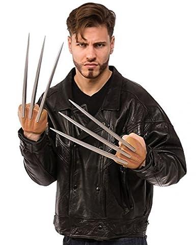 X-Men Wolverine Krallen 35cm für Fasching & Halloween (Die X-men Kostüme)