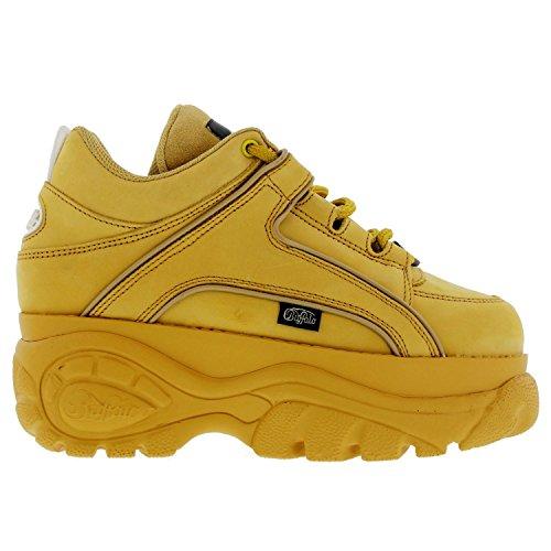 Buffalo Womens 1339-14 Platform Nubuck Shoes Jaune