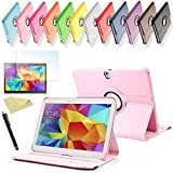SVS 3in1 SET Tab S 10.5 360° Schutzhülle + Folie + Pen Samsung Galaxy Tab S SM-T800 / T801 / T805 Tasche Etui (Rosa)