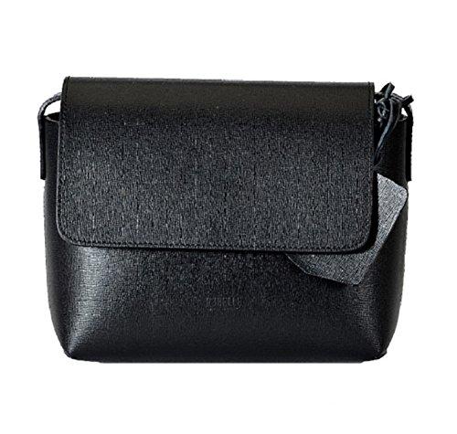 REBELLE FTC Shoulder Bag Alice Noir / Jaune en cuir made in Italy