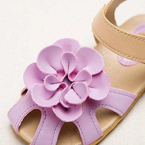 Antiderrapante Crianças Flor Crianças De Igemy Sapatos Roxo Criança Meninas Sandália Verão Frescas XqnpR4F7