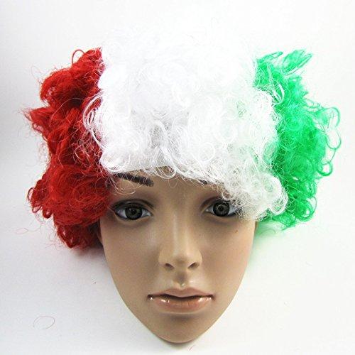 Land Italien Fußball-Fans Anhänger-Zubehör Afro Perücke Kostüm Cosplay (Länder Fancy Dress Kostüme)