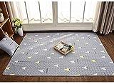 Y&D Cotton Tatami Floor Mat Sleeping Pad Foldable Roll Up Mattress Living Room Crawling Tatami Mattress Cotton Bedroom Foot Pad Nordic Geometric Lattice Area rug