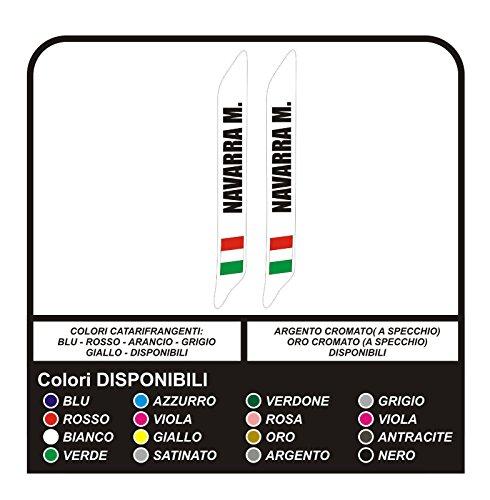 ADESIVI NOME BICI CORSA KART AUTO DA RALLY MOTO CASCO ELEMETTO GRUPPO SANGUIGNO (LUNGHEZZA (cm 10))