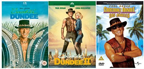 Crocodile Dundee Trilogy 1-3 Complete DVD Movie Collection: Crocodile Dundee / Crocodile Dundee 2 / Crocodile Dundee In Los Ang