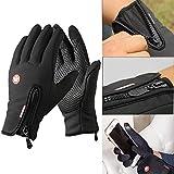 phego Touchscreen Handschuhe Outdoor Sport Damen Warme Fahrradhandschuhe Winddicht und Touchscreen geeignet (L)