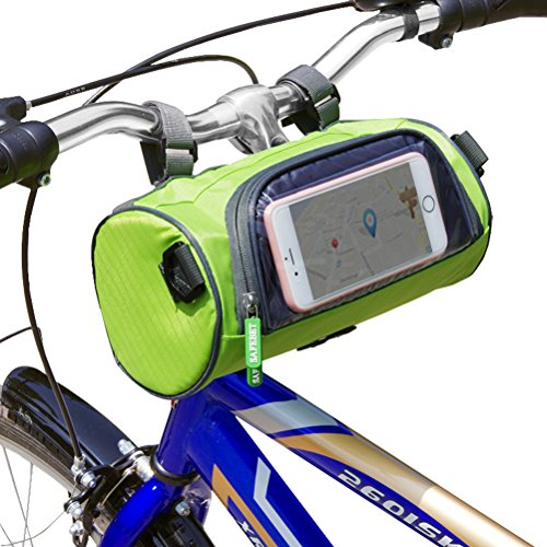 Just Mode Fahrradtasche/Fahrradtasche mit Halterung, wasserdicht, für Handys, Touchscreen-Halterung, mit Riemen I6 Ipod