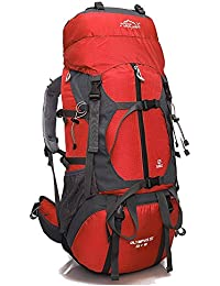 Mochila outdoor 65L admite llevar bolsas escalada outdoor mochilas mochilas bolsas de hombro rojo
