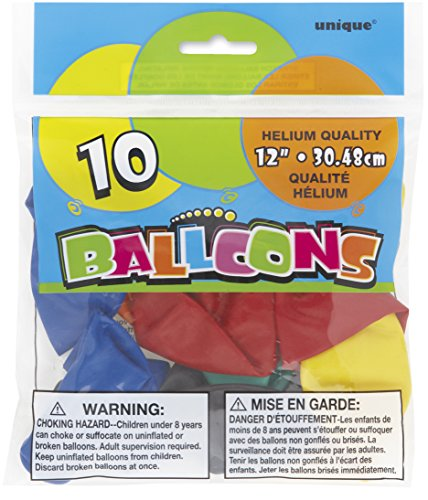 Unique Party Supplies Latexballons, Durchmesser ca. 30,5 cm