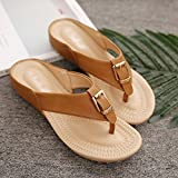 Slipper Footwear Sandals Flip Flops Metal Buckle Clip Toe Anti-Skid Cable The New (2 Colors, 6 Sizes Available) Tingting (Color : White, Size : 38)
