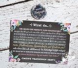Trauzeugen fragen Geschenk Karte mit Button für die Trauzeugin Willst du meine Trauzeugin sein Blumen, Karte mit Button