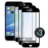 3 x Pellicola Vetro Temperato iPhone 6 Plus /6S Plus (Black) Protezione Dello Schermo. NEVEQ® Pellicola Protettiva Display per Apple iPhone 6 Plus (6S Plus) Full Screen Black (5.5 in) Pollici Protezione Esterna