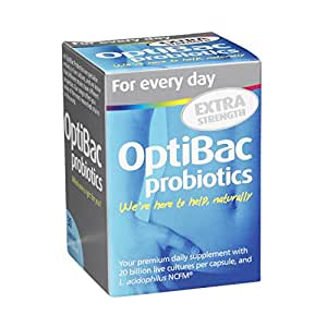 OptiBac Probiotics For every day EXTRA Strength – Pack of 30 Capsules