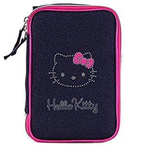 Target Hello Kitty Pencil Case Estuches, 22 cm, Rosa (Pink/Blue)