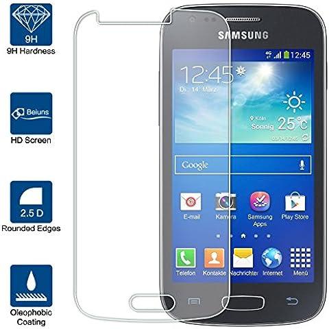 Beiuns Vidrio Templado Protector de Pantalla para Samsung Galaxy Ace 3 III