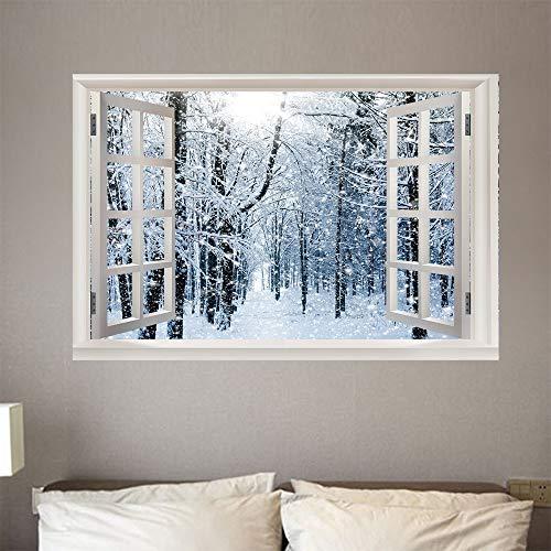zene 3D Gefälschte Fenster Schlafzimmer Kinderzimmer Büro Hintergrund Dekoration Pvc Landschaft Wandaufkleber (50X70 Cm) ()