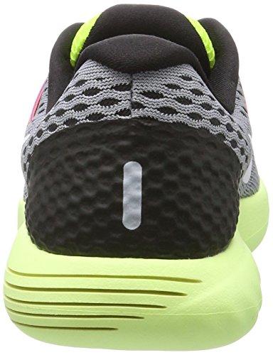 Nike Wmns Lunarglide 8, Baskets Basses Femme Gris (Wolf Grey/white-volt-gamma Blue 017)