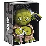 Joy Toy 1601758 - Yoda Black Line Plüsch 25 cm aus verschiedenen Materialien (Leder, Kunststoff) mit vielen Details und Exklusiver Star Wars Verpackung