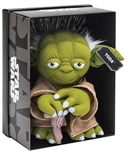 Joy Toy 1601758–Yoda Black Line Peluche 25cm de distintos materiales...