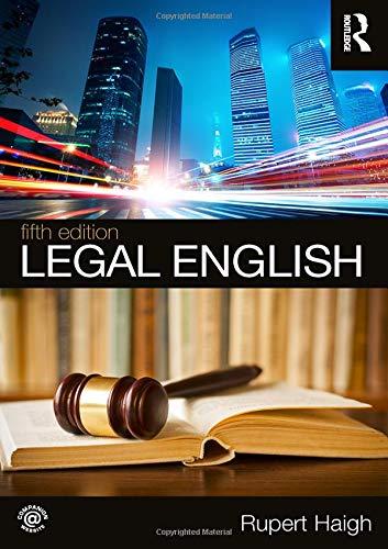 Legal English: Volume 1 por Rupert Haigh