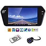 #2: 7 Inch Full HD Touch Screen Bluetooth LED Screen+8LED Reverse Camera for Cars