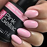 Pink Gellac Gel-Nagellack Shellac, Uncovered3 Kollektion 15ml UV Nagellack Nude farbiger Nagellack Nagellackfarben (223 Dusty Rose)