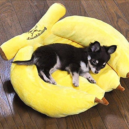 Banana cotone Nest Bed Kennel lettiera del nido dell'animale domestico del cane di animale Nido Piccolo Dog Kennel ( colore : Piccolo ) - Bed Kennel
