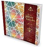 GOCKLER® 3 Jahres Kalender: 190+ Seiten Journal für 3 Jahre || Glänzendes Softcover || Ideal als Tagebuch, Notizkalender, Aufgabenplaner oder Erfolgsjournal || DesignArt.: Mosaik