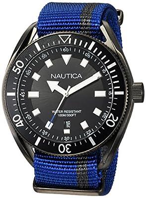 Nautica Reloj Analógico para Hombre de Cuarzo con Correa en Tela NAPPRF002 de Nautica