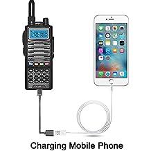 EasyTalk SY99 Walkie Talkie Ricetrasmettitore 5W 128 Canali VHF / UHF 136-174 / 400-480 MHz Portatile FM Doppia Banda Doppia Frequenza Ricetrasmittente