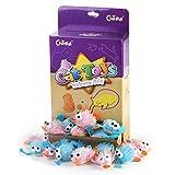 Chiwava 12 Stück 9 cm Weichen Pelzigen Katzenspielzeug Plüsch Rassel
