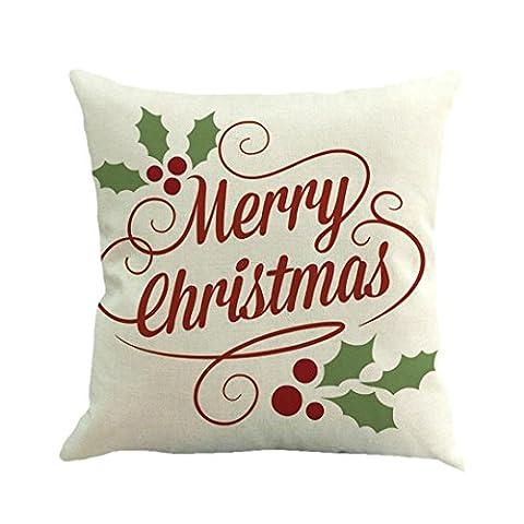 Xshuai Hochwertige frohe Weihnacht-Druck-abnehmbare und waschbare färbende Sofa-Bett-Ausgangsdekor-Kissen-Abdeckungs-Kissen-Abdeckung (multi Art A / B / C / D / E / F / G / H / I)