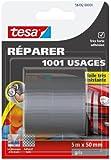 Tesa 56492-00000-00 Réparer 1001 Usages Toile Très Résistante 5 m x 50 mm Gris