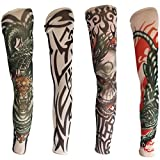 #8: Pair Of Color Tattoo Sleeves Gloves (Set Of 4) For boys BY BHAGWATI STORE