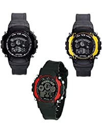 Tutile Latest Digital Smart Outdoor Sports Yellow,red And Black Watch For Boys And Men TTCB128013