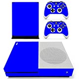 DOTBUY Vinyl Decal Full Body Skin Sticker For Microsoft Xbox One S Console And 2 Controllers And Kinect 2.0 (All Blue)
