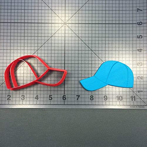 Petsdelite® Sport-Serie Ausstecher Set Fondant Cupcake Top Baseball Handschuh Cap Filed Kuchen Dekorieren Tools nach Maß 3D gedruckt Form: Cap3 4 Zoll N4399 Baseball-cap-tool