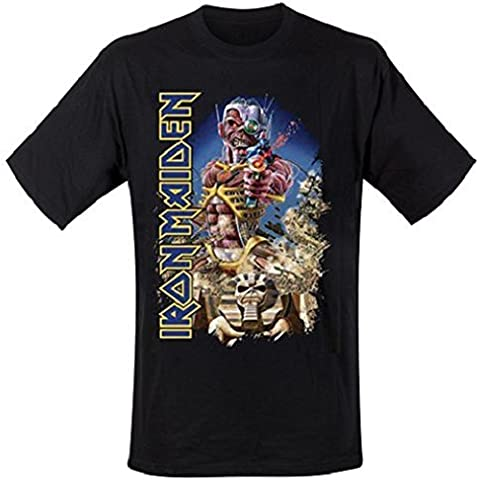 Iron Maiden Maglietta Somewhere Back in Time Jumbo Shirt, taglia L - Iron Maiden Somewhere In Time