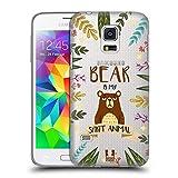 Head Case Designs Bär Seelen Tiere Abbildungen Ruckseite Hülle für Samsung Galaxy S5 Mini