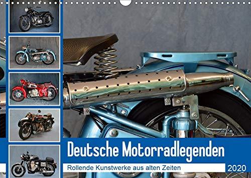 Deutsche Motorrad - Legenden - Rollende Kunstwerke aus alten Zeiten (Wandkalender 2020 DIN A3 quer): Eine Hommage an die deutsche Motorradschmiede (Monatskalender, 14 Seiten ) (CALVENDO Mobilitaet)