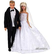 Miunana Abiti Vestiti Per Bambola KEN Dolls (Abito Di KEN + Abito Da Sposa Di Barbie)