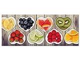 GRAZDesign 100454_002_01_04 Glasbild aus Acryl | Wandbild mit Bild-Motiv Herzschalen mit Obst | Küchenbild als Wand-Dekoration für Küche/Esszimmer (125x50cm)