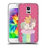 Head Case Designs Frühling Phantastische Einhörner 2 Chubby Soft Gel Hülle für Samsung Galaxy S5 Mini