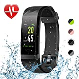 Letsfit Fitness Tracker Color Screen, Heart Rate Monitor Watch, IP68 Waterproof Bluetooth Activity