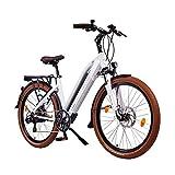 NCM Milano 26 Zoll Urban E-Bike 250W Das-Kit Heckmotor 48V 13Ah 624Wh Li-Ion Zellen Akku weiß
