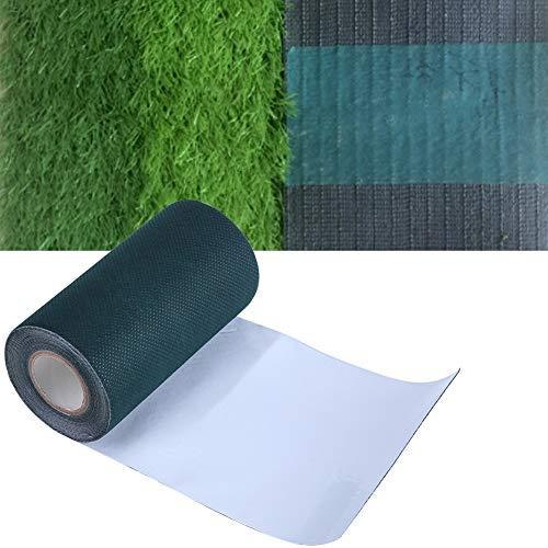 Dewin Künstliches Gras, Das Band verbindet - 5mx15cm künstliches Gras-Grün, Das Festlegungs-Rasen-Band, selbstklebendes Rasen-Teppich-Nähen verbindet (Gras Band Grüne)