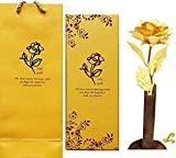 Lavanaya Silver Gold Rose Artificial Flower 24K gold With Loving Box Carry Bag,and beautiful bud vase