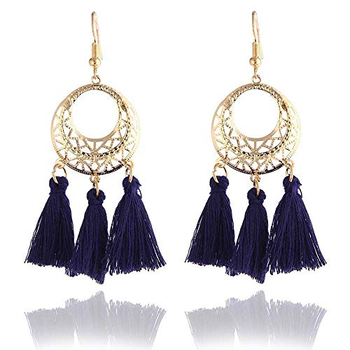 XCWXM Ohrringe Handmade Ohrringe Damen Damen Quaste Ohrringe Damen Accessoires Braut Quasten Lange Ohrringe, E